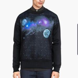 New Galaxy Printed sweatshirt in neoprene Fabric